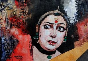 Navarasa Series - 5 Bhayanaka Digital Print by Mopasang Valath,Expressionism