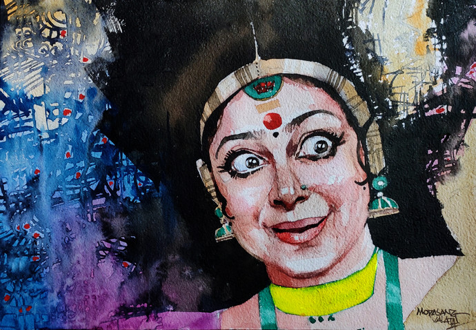 Navarasa Series -7, Atbhuta Digital Print by Mopasang Valath,Expressionism