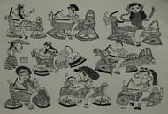 Jogi Art by Sangeeta Jogi by Sangeeta Jogi, Folk Drawing, Pen & Ink on Paper, Bitter color