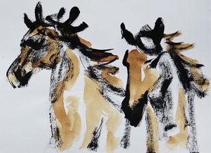 horse 44 Digital Print by Santhosh CH,Illustration