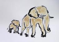 elephant 98 Digital Print by Santhosh CH,Impressionism