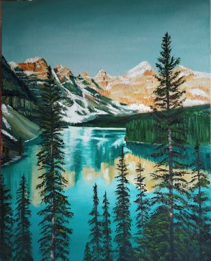 Landscape by Dipali Samant , Expressionism Painting, Oil on Canvas Board, William color