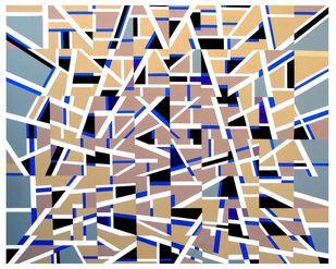 Kaliedoscopic Space - II Digital Print by S K Sahni,Geometrical