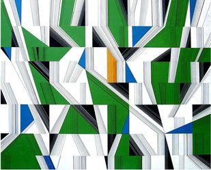 Kaliedoscopic Space - III Digital Print by S K Sahni,Geometrical