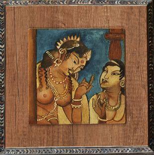 Ajanta by Gargi Parmar, Traditional Painting, Mixed Media, Mondo color