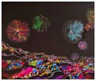 Lights of Celebration II Digital Print by Richa Pamnani,Expressionism