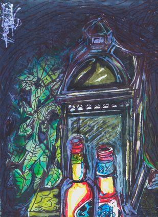 My Coffee Table Digital Print by Saumya Chakraborty,Expressionism, Pop Art