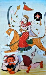 Maha Maya by Unknown Artist, Folk Painting, Natural colours on paper, Ziggurat color