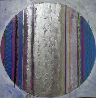untitled by Selvam P, Abstract Painting, Acrylic on Board, Jumbo color