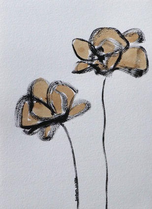 Flowers 59 Digital Print by Santhosh CH,Illustration