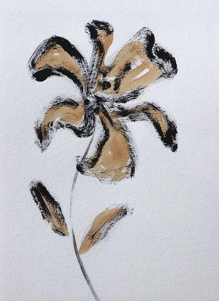 Flowers 60 Digital Print by Santhosh CH,Illustration