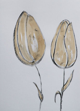 Flowers 77 Digital Print by Santhosh CH,Illustration