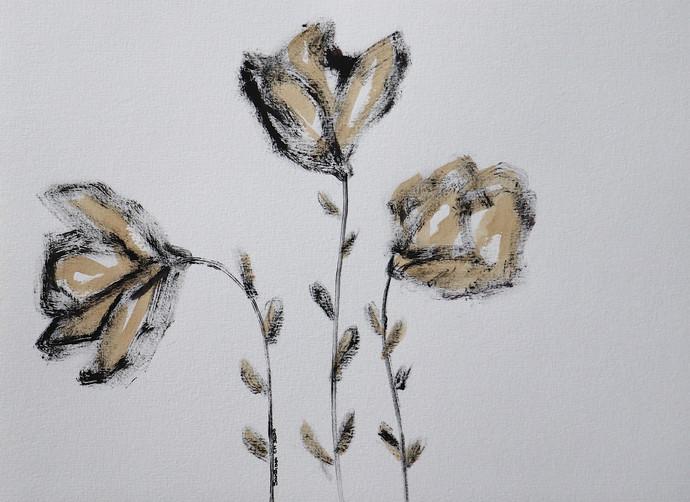 Flowers 79 Digital Print by Santhosh CH,Illustration