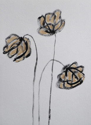 Flowers 83 Digital Print by Santhosh CH,Illustration