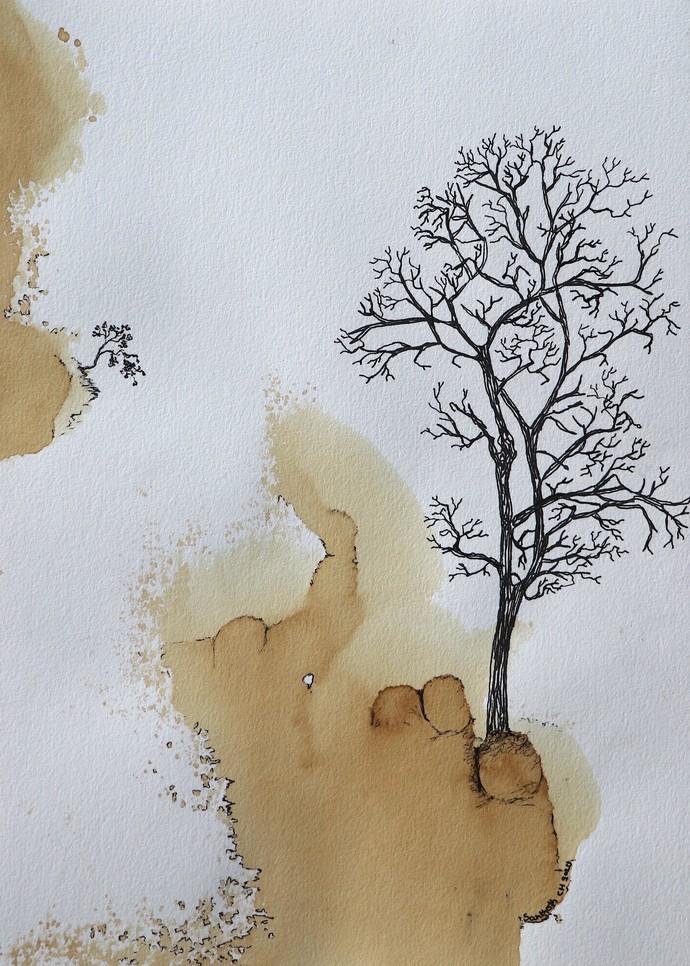 nature 87 Digital Print by Santhosh CH,Illustration