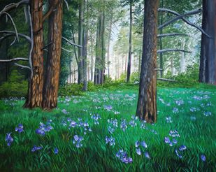 Forest 2 by Dipali Samant , Expressionism Painting, Oil on Canvas Board, Plantation color