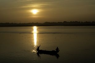 Sunset in the holy city Digital Print by SRIJAN NANDAN,Image