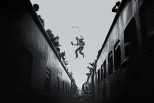 The Jump by Arka, Digital Photography, Digital Print on Archival Paper, Black color