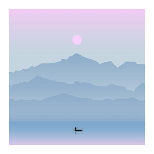 Composed by adnan., Image Digital Art, Digital Print on Paper, Pigeon Post color