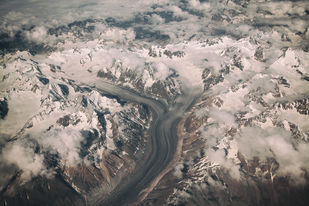Himalayas by Arka, Digital Photography, Digital Print on Canvas, Silver color