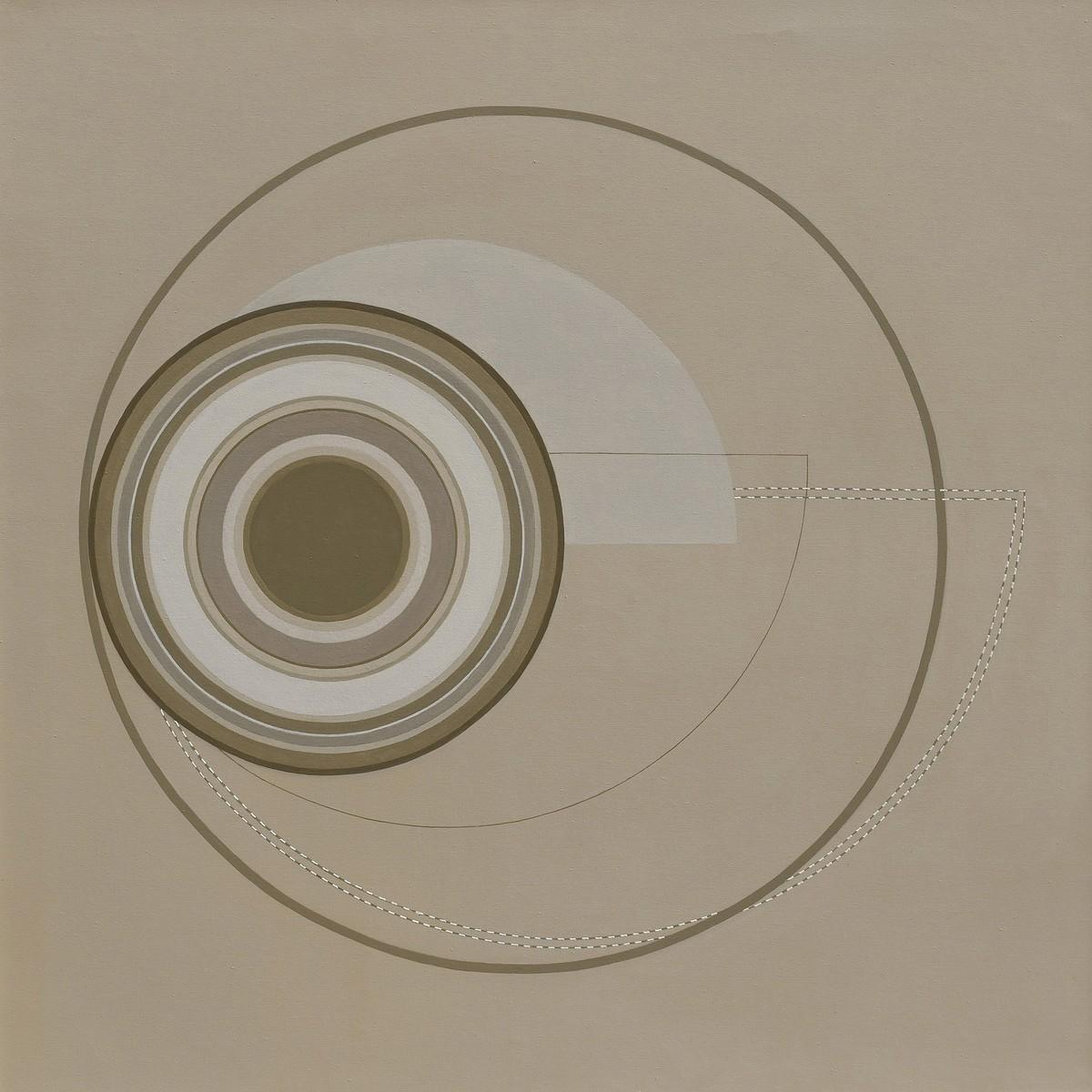 untitled by Dhruti Mahajan, Geometrical Painting, Acrylic on Canvas, Zorba color