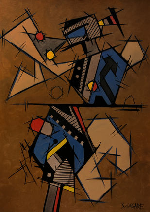Mirage by Sanket Sagare, Abstract Painting, Acrylic on Canvas,