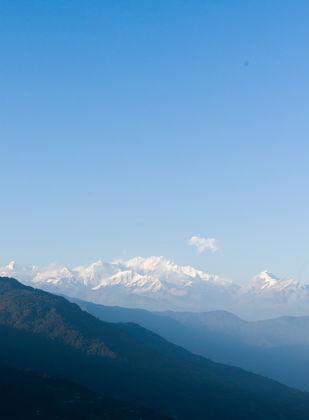 Kanchenjunga by Utkrist Raj Gurung, Image Photography, Digital Print on Paper, Aqua Pearl color