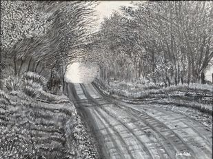 Way to Deamland by Kavita Rajput, Impressionism Painting, Acrylic on Canvas, Friar Gray color