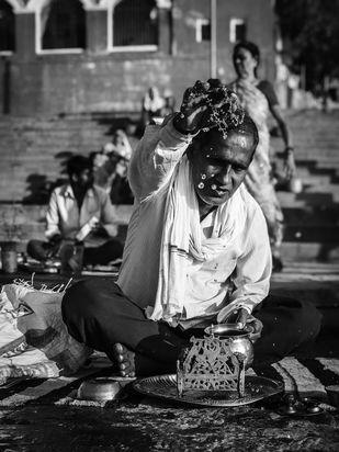 The ghats of Varanasi Digital Print by SRIJAN NANDAN,Image