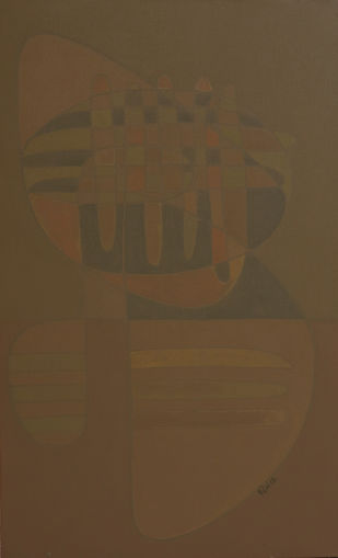 SONG OF LIFE by Digamber Gavali, Geometrical Painting, Acrylic on Canvas, Millbrook color