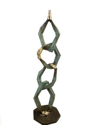 Untitled by Shashi Paul, Art Deco Sculpture | 3D, Bronze, Kelp color