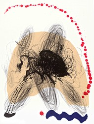 Untitled by Avijit Roy, Abstract Printmaking, Lithography on Paper, Parchment color