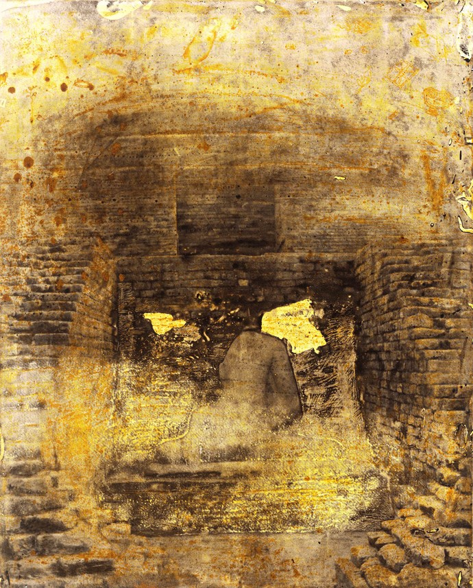 Wounds by Ramendra Nath Kastha, Abstract Printmaking, Etching on Paper, Cape Palliser color