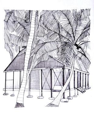 Project - Mumbai Artist Retreat by Pooja Wadekar, Illustration Painting, Pen & Ink on Paper, Mischka color