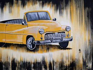 Yellow Rust Digital Print by Tejal Bhagat,Art Deco