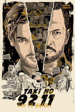 TAXI NO 9211 Alternative Poster Digital Print by Rajesh Ghadigaonkar,Conceptual, Digital