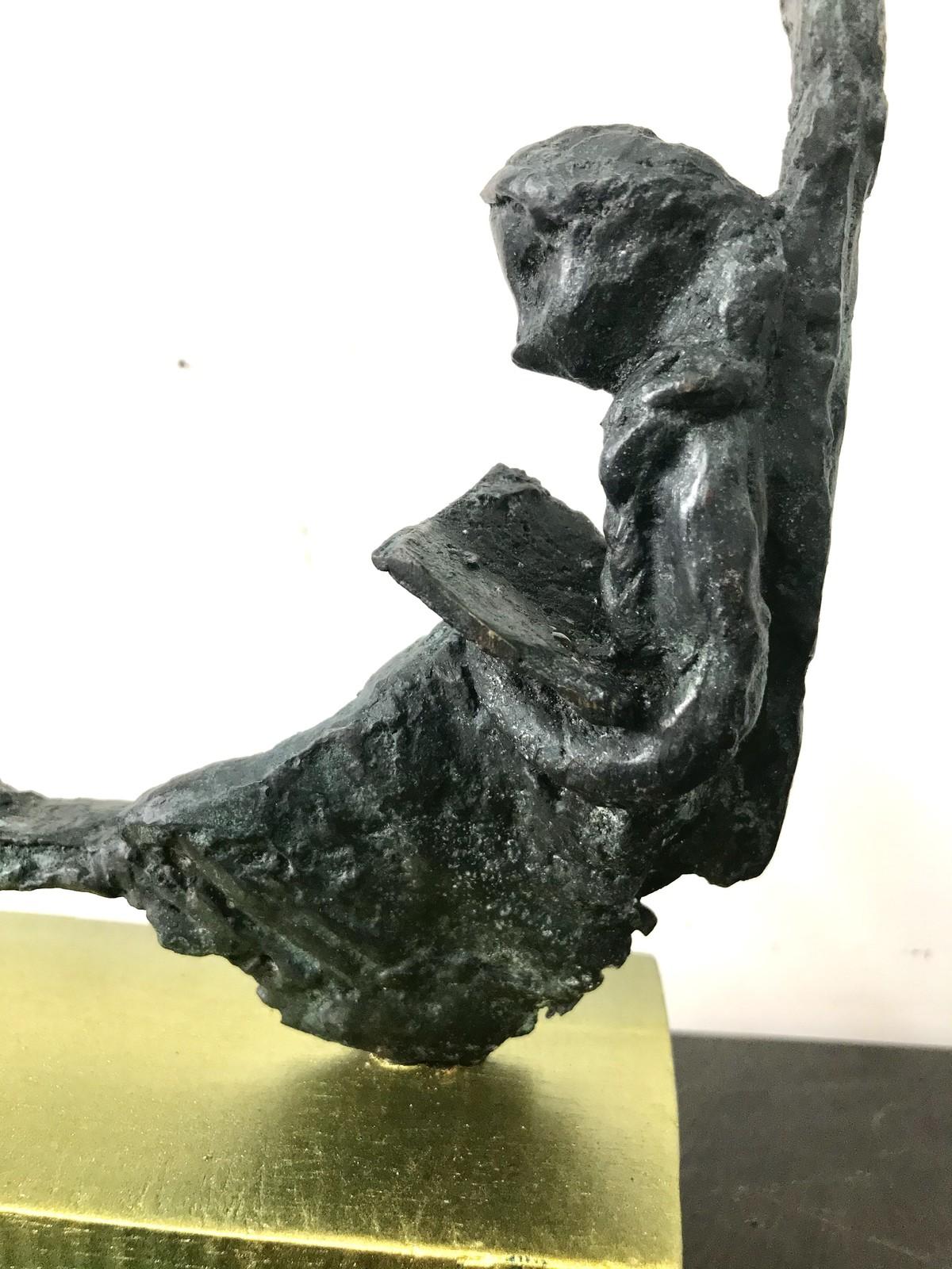 Untitled by Usha Ramachandran, Art Deco, Decorative Sculpture   3D, Bronze, Sapling color