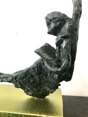 Untitled by Usha Ramachandran, Art Deco, Decorative Sculpture | 3D, Bronze, Sapling color
