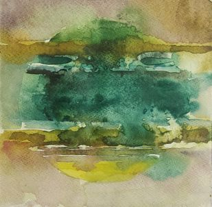 Untitled by Selvam P, Painting, Ink/ watercolour/acrylic on handmade paper, Hillary color
