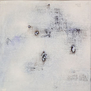 untitled 1265 by Arvind V Patel, Minimalism Painting, Acrylic on Canvas, Silver color