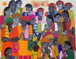 """People of God"" Digital Print by Dhan Prasad,Decorative, Folk"
