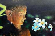 Lord Buddha-2 by Gagan kumar Mohanta, Illustration, Realism Painting, Acrylic on Canvas, Shark color
