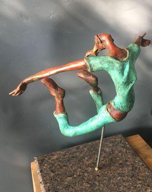 ECSTACY-3 by Shanta Samant, Conceptual Sculpture | 3D, Bronze, Ironside Gray color