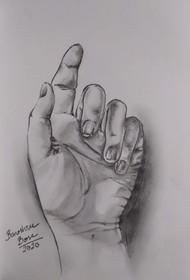 Anatomy Study - 01 by Banoshree Bose, Illustration Drawing, Pencil on Paper, Shady Lady color
