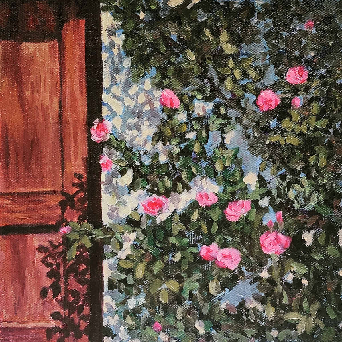 Vine on the wall by Ankita Chauhan, Conceptual Painting, Oil & Acrylic on Canvas, Birch color
