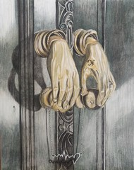 TOGETHER FOREVER by Nidhi Bhatia, Conceptual Painting, Charcoal on Paper, Friar Gray color