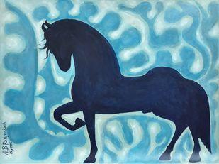 Royal stallion (Year 2015) Digital Print by A.B.Ramprakash,Art Deco