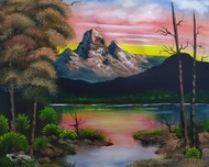 Evening Colors by Hemant Verma, Impressionism Painting, Oil on Canvas, Eunry color