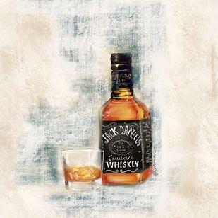 Jack Daniels by Prashansha Shrivastava, Digital Digital Art, Digital Print on Canvas, Satin Linen color