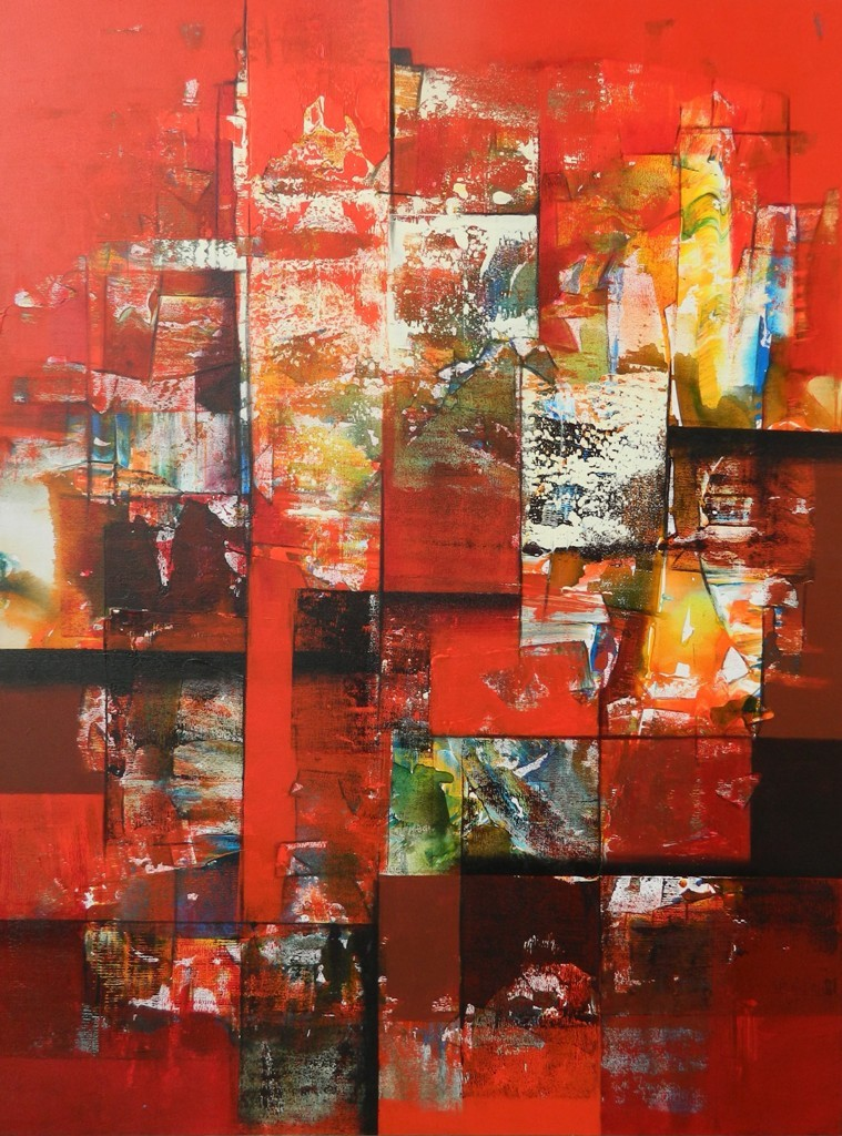untitled by Stalin P J, Abstract Painting, Acrylic on Canvas, Mojo color